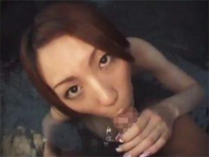 【無修正セックス動画】美人の奥様とエッチな不倫旅行…七沢温泉の露天風呂でゴム姦してお尻に精液を発射