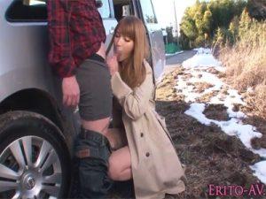 【AV女優セックス動画】エロボディーの「ティア」とノーパンドライブ…その後は野外フェラしてもらい室内でハメる