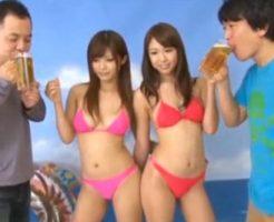 【セックスエロ動画】キャンペーンポスターを撮影する現場に時間を止め侵入しビールとキャンビッチをいただきますw||セックスエロ動画,さとう遥希,愛原さえ
