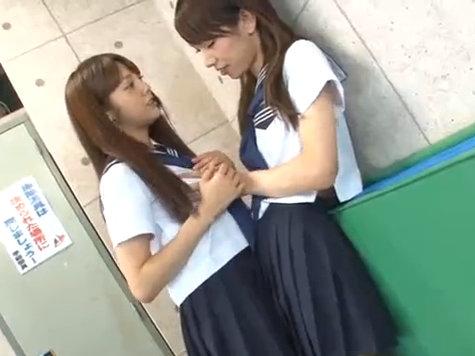 【セックスエロ動画】JKとして生活してた男の娘が仲良し女の子と一線を超え肉体関係に!みづなれい 橘芹那