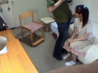 【セックスエロ動画】家庭教師のおっさんに目隠しされて気付けばフェラチオさせられてたロリ顔娘