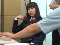 【セックスエロ動画】「大人を舐めんな!」万引きしたのに反省しない制服JKに怒りの制裁 彩城ゆりな
